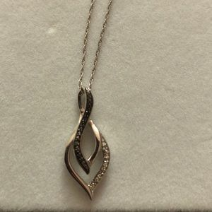 Black and Diamond necklace